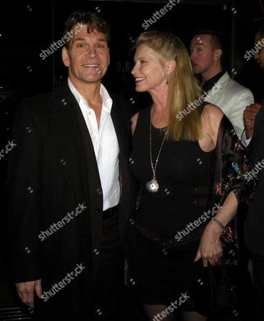 First Night Party For 'Porgy and Bess' at Floridita Wardour Street Patrick Swayze with His Wife Lisa Niemi