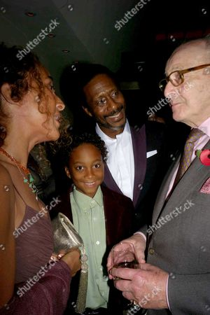First Night Party For 'Porgy and Bess' at Floridita Wardour Street Clarke Peters with His Wife Penny and Son Max and David Jacobs