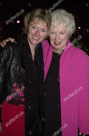 First Night Live at the Hammersmith Apollo June Whitfield with Her Daughter Suzy Aitchison