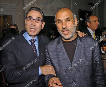 Private View of 'Heaven On Earth' in the Hermitage Rooms at Somerset House London Uk Dr Nasser Khalili & Alan Yentob