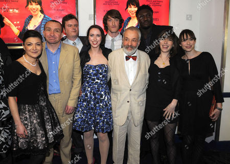 The Premiere of Happy Go Lucky at the Odeon Parkway Camden Town London Mike Leigh and Eddie Marsan with Kate O'flynn Alexis Zegerman Sally Hawkins & Caroline Martin & Samuel Roukin