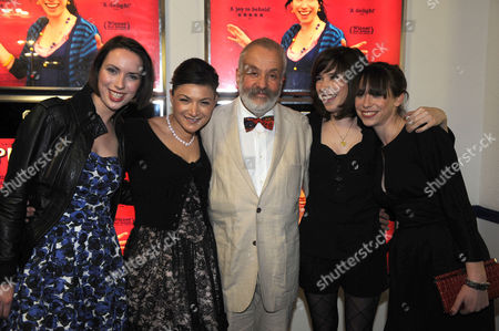 The Premiere of Happy Go Lucky at the Odeon Parkway Camden Town London Mike Leigh with Kate O'flynn Alexis Zegerman Sally Hawkins & Caroline Martin