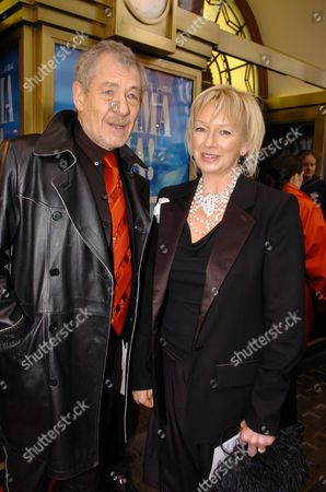 5th Anniversay Og Mamma Mai & 30th Anniversary of Abba Winning Eurovision Song Contest with Waterloo Arrivals at the Theatre Sir Ian Mckellan & Judy Cramer