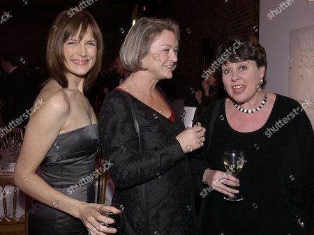 Stock Picture of Presention of the Whitbread Book Award at the Brewery Chiswell Street London the Winning Book Was Samuel Pepys the Unequalled Self by Claire Tomalin Katie Durham with Kate Addie & Sheena Mcdonald