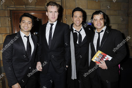 Press Night For 'The Jersey Boys' at the Prince Edward Theatre and Afterparty at the Natural History Museum Teatro - Stephen Rahman-hughes Andrew Alexander Jeremiah James and Simon Bailey
