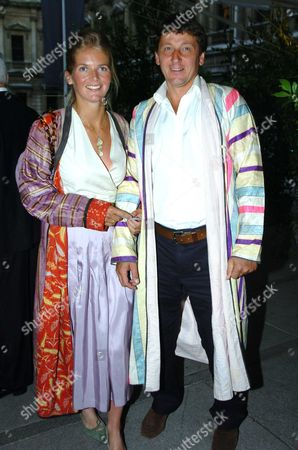 A Round the World in One Night the Royal Academy of Arts Summer Ball Countess Alexandra Tolstoy with Her Husband Shamil Galimzyanov