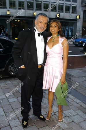 A Round the World in One Night the Royal Academy of Arts Summer Ball Gulu Lalvani with His Daughter Divia