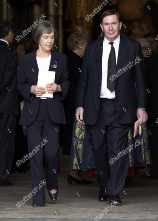 Service of Thanksgiving For the Life and Work of Rt Hon Lord Jenkins of Hillhead at Westminster Abbey Baron Derry Irvine with His Wife Alison