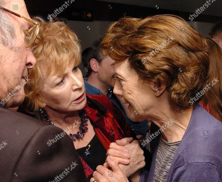 1st Night of the Birthday Party at the Duchess Theatre London Harold Pinter Edna O'brien & Eileen Athkins