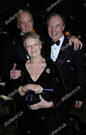 The Evening Standard British Film Awards at the Savoy Hotel London Dame Judi Dench with Tim Piggott-smith & Charles Dance