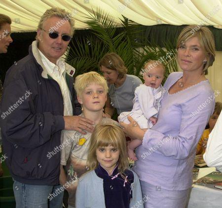 Roger Taylor and Deborah Leng with his children Rufus Taylor and Tigerlily Taylor, and 9-week-old daughter Lola Daisy May Leng Taylor