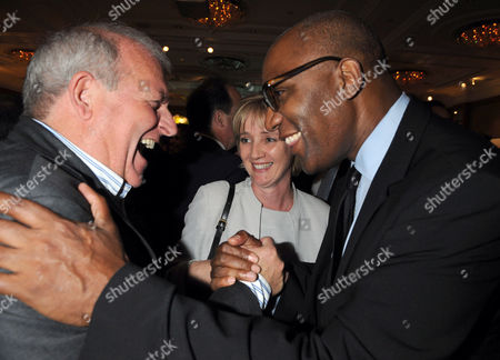 The Spectator Magazine 180th Anniversary Party at the Churchill Hotel Portman Square London Kevin Mckenzie with Trevor Phillips