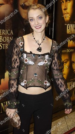Uk Premiere of 'Gangs of New York' at the Empire Cinema Leicester Square London Attended by Martin Scorsese Leonardo Dicaprio Daniel Day Lewis Jim Broadbent & David Hemmings Pix Shows Lucy Davenport