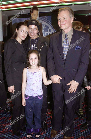Stock Image of Uk Premiere of 'Lara Croft: Tomb Raider' at the Empire Leicester Square and Afterparty Angelina Jolie Billy Bob Thornton Jon Voight and Rachel Appleton