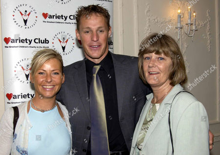 Variety Club 30th Sporting Awards at the Royal Lancaster Hotel Danny Crates with His Mother Shelia and Girlfriend Victoria