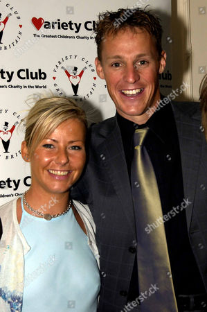 Variety Club 30th Sporting Awards at the Royal Lancaster Hotel Danny Crates with His Girlfriend Victoria