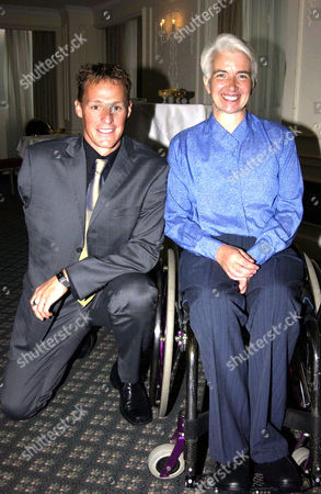 Variety Club 30th Sporting Awards at the Royal Lancaster Hotel Danny Crates and Paralympic Champion Isabel Newstead