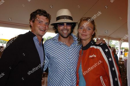 Veuve Clicquot Gold Cup Polo at Cowdray Park the Hon Lucas White with Jack & Jodie Kidd