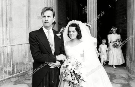 Wedding of Valentine Guinness to Lucinda Rivett-carnac at Winchester Cathedral Valentine Guinness with His Wife Lulu