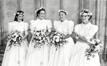 Wedding at Winchester Cathedral the Bridesmaids Daphne Guinness (r)
