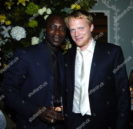 The Uk Premiere of 'Wimbledon' at the Odeon Leicester Square Paul Bettany & Oswald Boateng