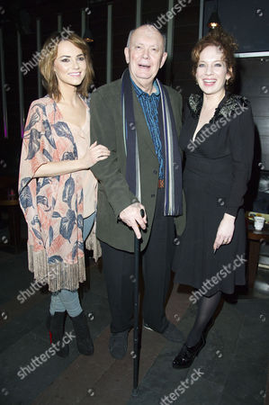 'Absent Friends' Press Night After Party at Mint Leaf Haymarket Kara Tointon and Katherine Parkinson with the Playwright Alan Ayckbourn