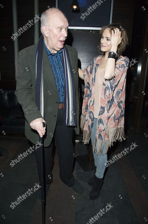 'Absent Friends' Press Night After Party at Mint Leaf Haymarket Kara Tointon with the Playwright Alan Ayckbourn