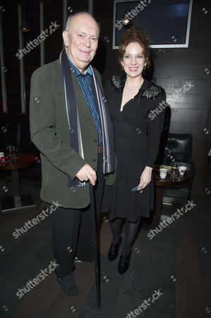 'Absent Friends' Press Night After Party at Mint Leaf Haymarket Katherine Parkinson with the Playwright Alan Ayckbourn