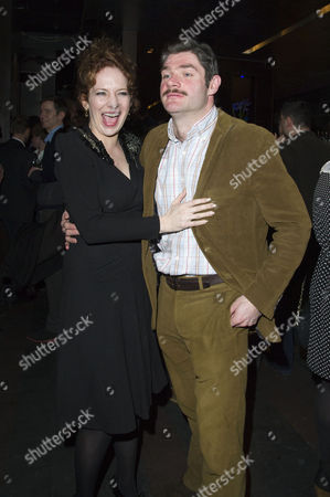 'Absent Friends' Press Night After Party at Mint Leaf Haymarket Katherine Parkinson with Her Partner Harry Peacock (she is 3 Months Pregnant)