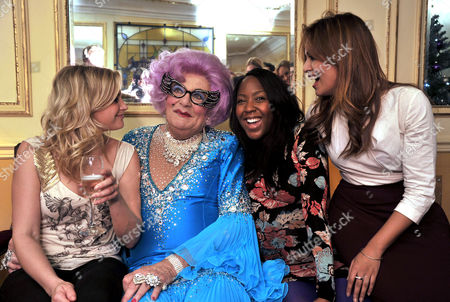 'Dick Whittington' Press Night at Wimbledon Theatre the Broadway Anna Williamson Dame Edna Everage (barry Humphries) Angelica Bell and Tasmin Lucia Khan