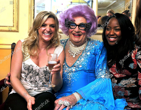 'Dick Whittington' Press Night at Wimbledon Theatre the Broadway Anna Williamson Dame Edna Everage (barry Humphries) and Angelica Bell