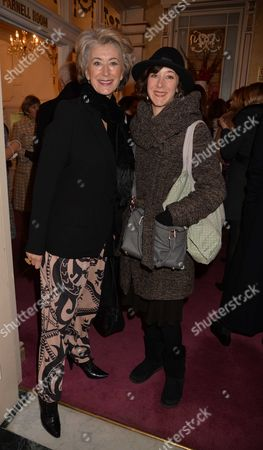 Dame Enda in Barry Humphries Farewell Tour 'Eat Pray Laugh!' at the London Palladium Arrivals For the Performance Maureen Lipman with Her Daughter Amy Rosenthal