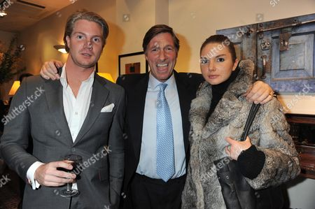 A Private View of 'Expressions of India' Photographs by Harriet Brocket at Patrick Mavors Fulham Road London Lord Charles Brocket with His Son & Daughter Alex Nall-cain and Antalya Nall-cain