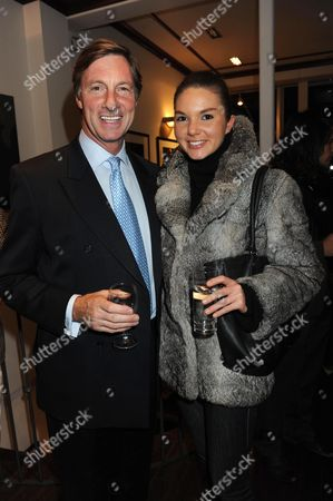 A Private View of 'Expressions of India' Photographs by Harriet Brocket at Patrick Mavors Fulham Road London Lord Charles Brocket with His Daughter Antalya Nall-cain