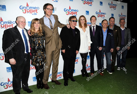 'Gnomeo and Juliet' Uk Premiere at the Odeon Leicester Square Matt Lucas Ashley Jensen Stephen Merchant Elton John Emily Blunt Steve Hamilton Shaw Kelly Asbury and David Furnish