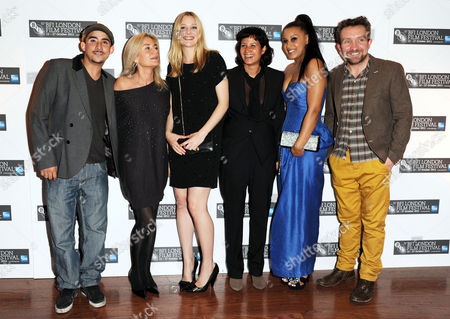 'Junkhearts' Red Carpet During the 55th Bfi London Film Festival at the Vue Leicester Square Romola Garai Director Tinge Krishnan Candese Reid and Eddie Marsan