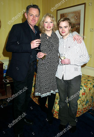'Less Than Kind' World Premiere Afterparty at the Albany Piccadilly Michael Simkins (sir John Fletcher) Sara Crowe (olivia Brown) and David Osmond (michael Brown)