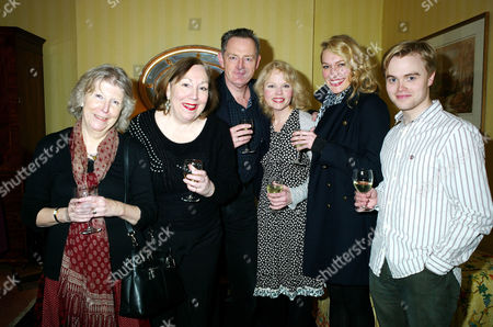 'Less Than Kind' World Premiere Afterparty at the Albany Piccadilly Vivienne Moore (miss Dell) Katie Evans (polton) Michael Simkins (sir John Fletcher) Sara Crowe (olivia Brown) Caroline Head (diana Fletcher) & David Osmond (michael Brown)