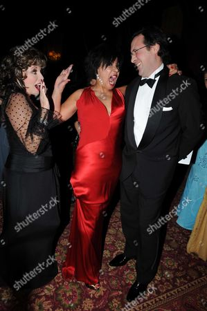 Joan Collins Shirley Bassey and Percy Gibson