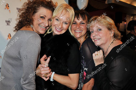 'Mamma Mia' Belated New Cast First Night Party at the Prince of Wales Theatre Coventry Street Lead Cast Members - Kim Ismay Sally Anne Triplett and Joanna Monro with the Shows Producer Judy Cramer