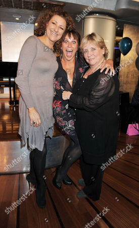'Mamma Mia' Belated New Cast First Night Party at the Prince of Wales Theatre Coventry Street Kim Ismay Sally Anne Triplett and Joanna Monro
