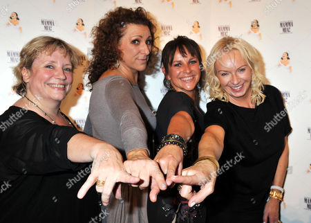 'Mamma Mia' Belated New Cast First Night Party at the Prince of Wales Theatre Coventry Street Lead Cast Members - Kim Ismay Sally Anne Triplett and Joanna Monro with the Shows Producer Judy Cramer (far Right)