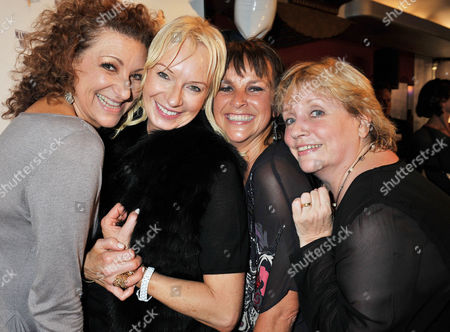 'Mamma Mia' Belated New Cast First Night Party at the Prince of Wales Theatre Coventry Street Lead Cast Members - Kim Ismay Sally Anne Triplett and Joanna Monro with the Shows Producer Judy Cramer (2nd Left)