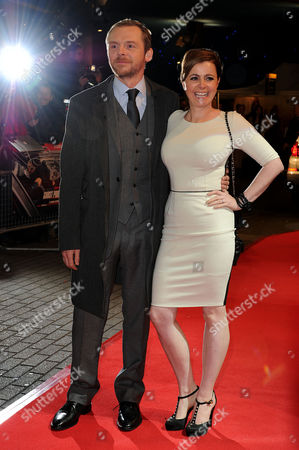 'Mission Impossible Ghost Protocol' Uk Premiere at the Bfi Imax Simon Pegg with His Wife Maureen Mccann