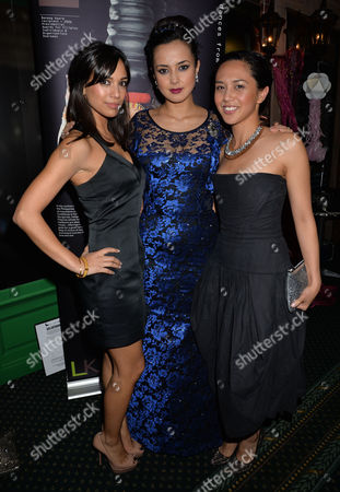 Stock Image of Philippines Typhoon Children Aid Appeal 'New Dreams For the Philippines' at Gibson Hall Bishopsgate City of London Fiona Wade Rebecca Grant & Rhoda Montemayor