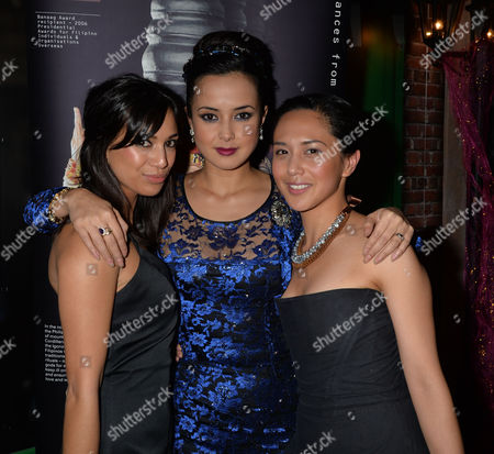 Philippines Typhoon Children Aid Appeal 'New Dreams For the Philippines' at Gibson Hall Bishopsgate City of London Fiona Wade Rebecca Grant & Rhoda Montemayor