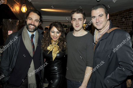 'Pippin' Press Night at the Menier Chocolate Factory Southwark Street Frances Ruffelle with Cast Members Matt Rawle Harry Hepple and Ian Kelsey