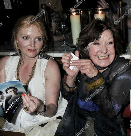 'Pygmalion' Press Night Afterparty at the National Gallery Cafe Charing Cross Road Miranda Richardson and Roberta Taylor