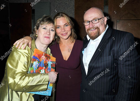 'South Pacific' Press Night Afterparty at the Barbican Centre Samantha Womack and Producers Howard Panter and Rosemary Squire of the Ambassador Theatre Group
