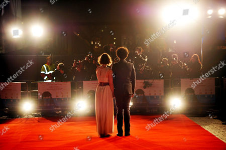 'Submarine' London Premiere at the Bfi Southbank Director Richard Ayoade with His Wife Lydia Fox